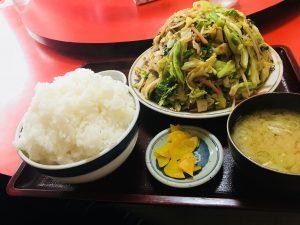 野菜炒め定食大盛り