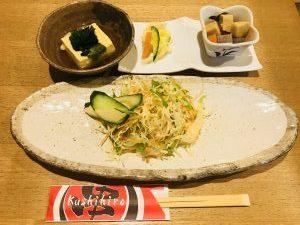 串ひろ 菜の鳥御膳サラダたち