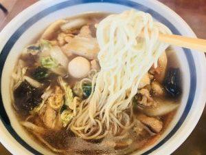 さんぽう亭 五目うま煮めん 麺リフト